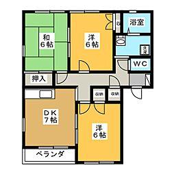 第3コーポつかさ[2階]の間取り