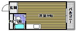 ハイムニシキ[2階]の間取り