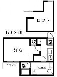 クラスティーネ帝塚山東[1階]の間取り