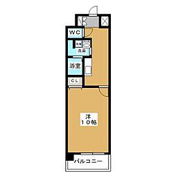 ザ パーククロス栄[4階]の間取り