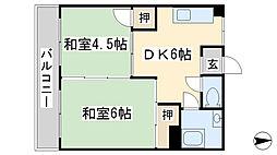 第一白石ビル[306号室]の間取り
