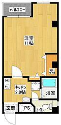 ニュー第一ビル[501号室]の間取り