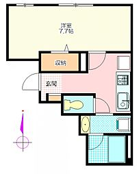 霞南口ビル[2階]の間取り