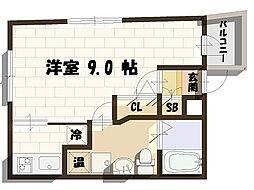 ジャン・プラス・ソック海老江VII 3階1Kの間取り