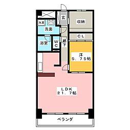 ライオンズマンション栄[7階]の間取り