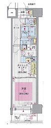 エステムプラザ川崎[3階]の間取り