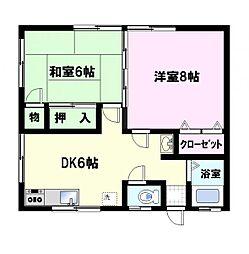 濱野アパート[201号室]の間取り