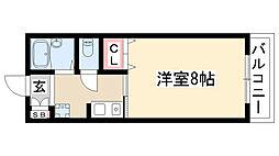 愛知県名古屋市名東区社が丘4丁目の賃貸アパートの間取り