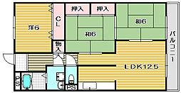 セントレージ延原[1階]の間取り