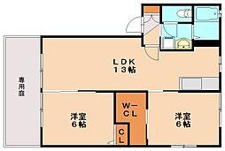 フォーレスト2[1階]の間取り
