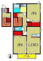 カーサクラール[2階]の間取り