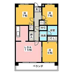 KOTOBUKIIII[1階]の間取り