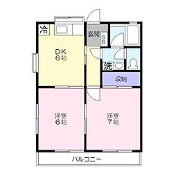 ライフモリ11号館[1階]の間取り