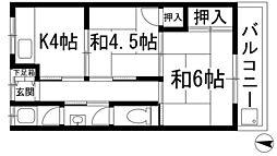 北泉荘[2階]の間取り
