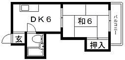 小阪ロイヤルハイツ[502号室号室]の間取り