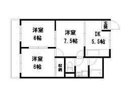 詩仙ハイム1[4階]の間取り