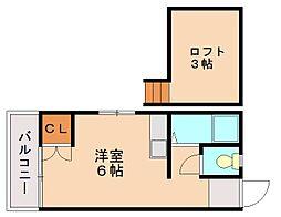 ピナクル井尻[2階]の間取り