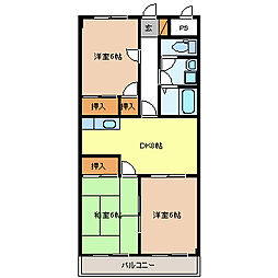 平林ピアII[1階]の間取り