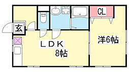 兵庫県神戸市中央区熊内橋通5丁目の賃貸アパートの間取り