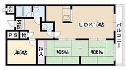 大阪府摂津市鳥飼上3丁目の賃貸マンションの間取り