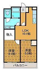 リバーサイド大澤[2階]の間取り