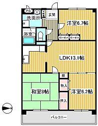 レインボウハイム[3階]の間取り