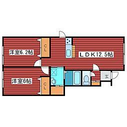 ルミエールSANYO[1階]の間取り