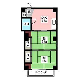 富田町共同ビル[2階]の間取り