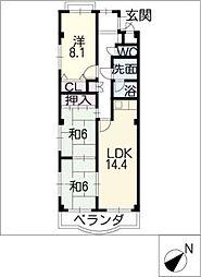ブルーサウスマンション[3階]の間取り