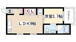 愛知県名古屋市南区駈上1丁目の賃貸アパートの間取り