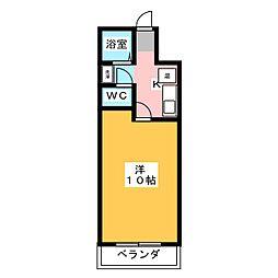 THE RESIDENCE KAWAGE[4階]の間取り