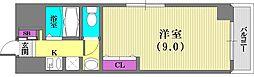 ネオアージュ神戸元町[6階]の間取り