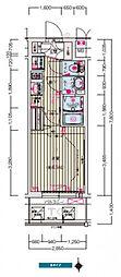 ララプレイス京橋シティオス 5階1Kの間取り