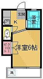 第二藤コーポ[203号室]の間取り