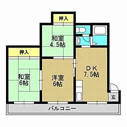 久保マンション[4階]の間取り