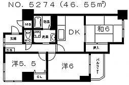 ライオンズマンション夕陽丘[301号室号室]の間取り