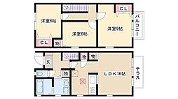 [テラスハウス] 愛知県名古屋市昭和区長池町5丁目 の賃貸【/】の間取り