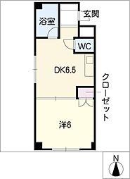 コーポ正木[1階]の間取り