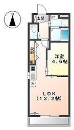 愛知県名古屋市中川区東中島町4丁目の賃貸マンションの間取り