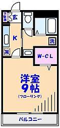 千葉県市川市福栄2丁目の賃貸マンションの間取り