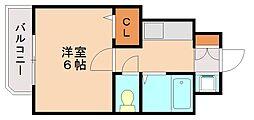 トーノ第1ビル[4階]の間取り