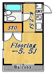 リリーパレスナルシマ2[3階]の間取り