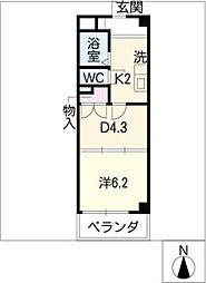 サンライトマンション[4階]の間取り