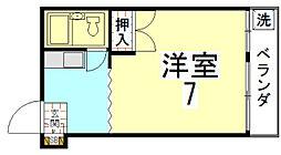 マグノリア館[B号室]の間取り