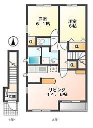 ボナール ソフィアA[2階]の間取り