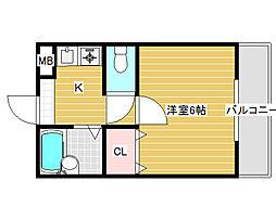 赤畑ハイツ[3階]の間取り