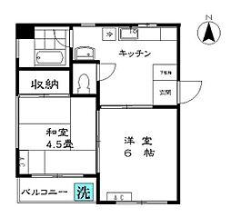 横田地ビル[3階]の間取り