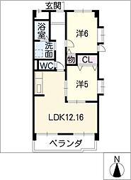 ダイソー12号館[2階]の間取り