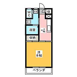 コーポ エル[2階]の間取り