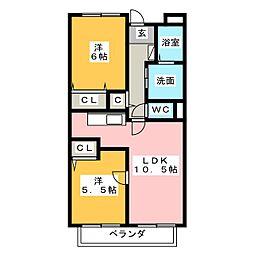 ソレアードトーレ[2階]の間取り